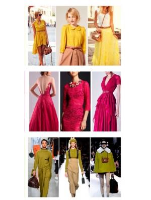 Модные сочетание цветов в одежде