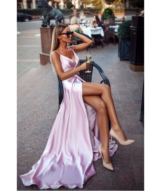 a387959a2a8 Длинное шелковое платье на запах  фото