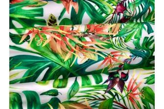 Матовый шелк - тропический принт